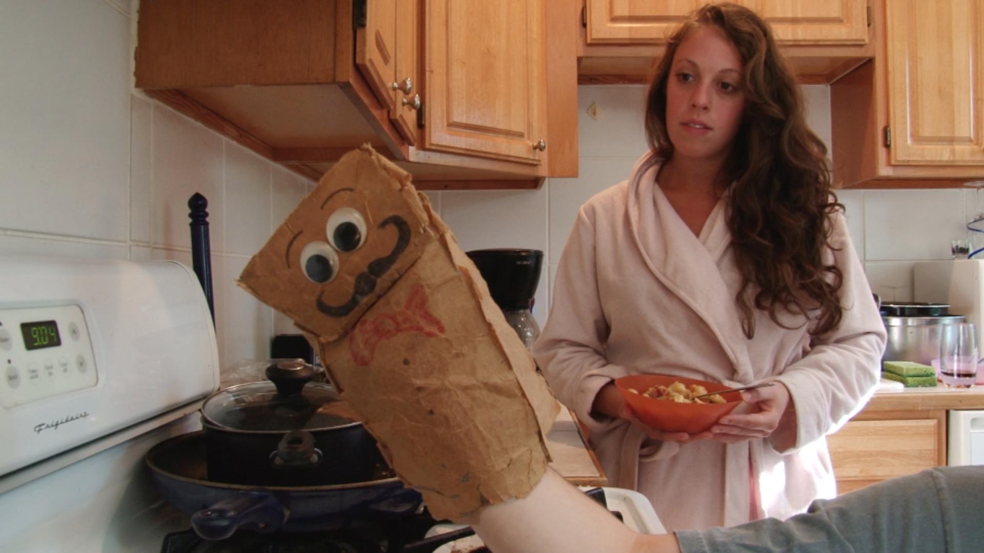Vaschel and his girlfriend argue over breakfast