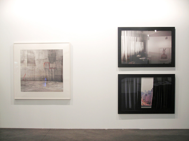 """Cortinas de Shanghai"" (diptico derecha), Stand Galeria Moriarty,Madrid Foto."