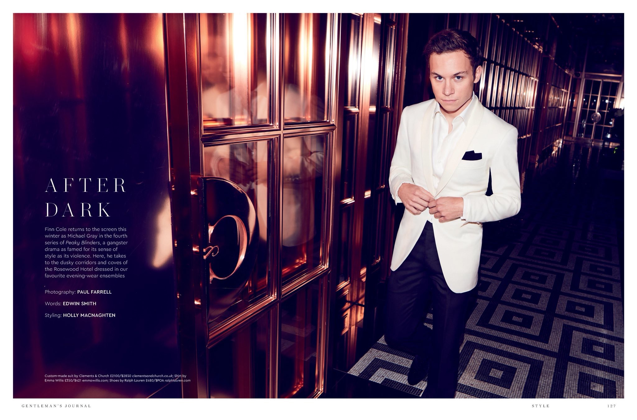 Finn Cole on squaring up to Tom Hardy, and the new Peaky Blinders - Gentleman's Journal