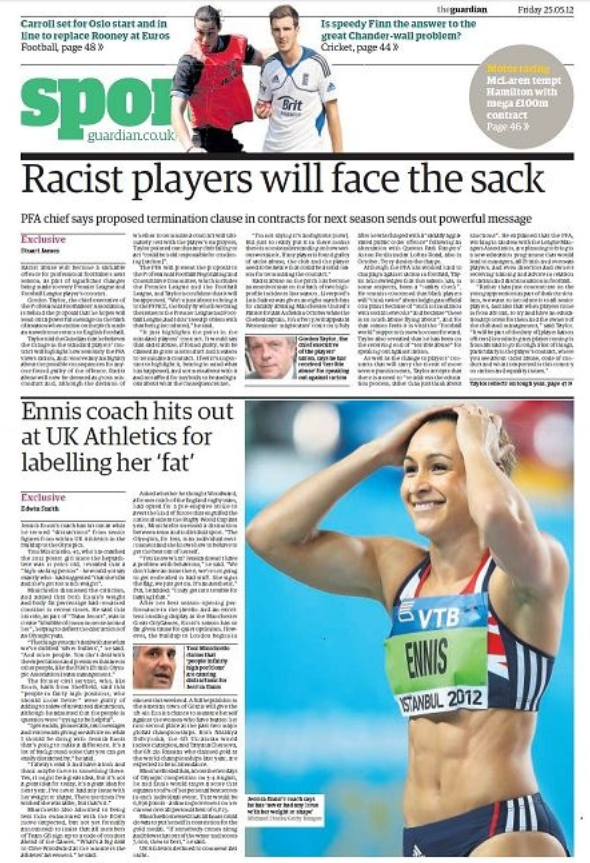 EXCLUSIVE: Jessica Ennis' coach hits out at UK Athletics for labelling her 'fat' ahead of London Olympics - The Guardian