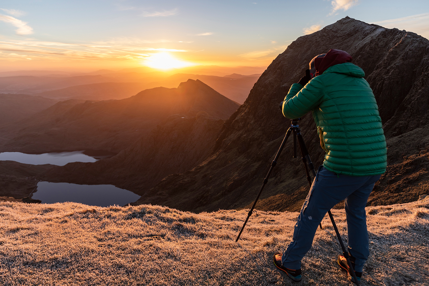 Capturing the morning light between Snowdon and Garnedd Ugain. Image taken by  Nick Hanson