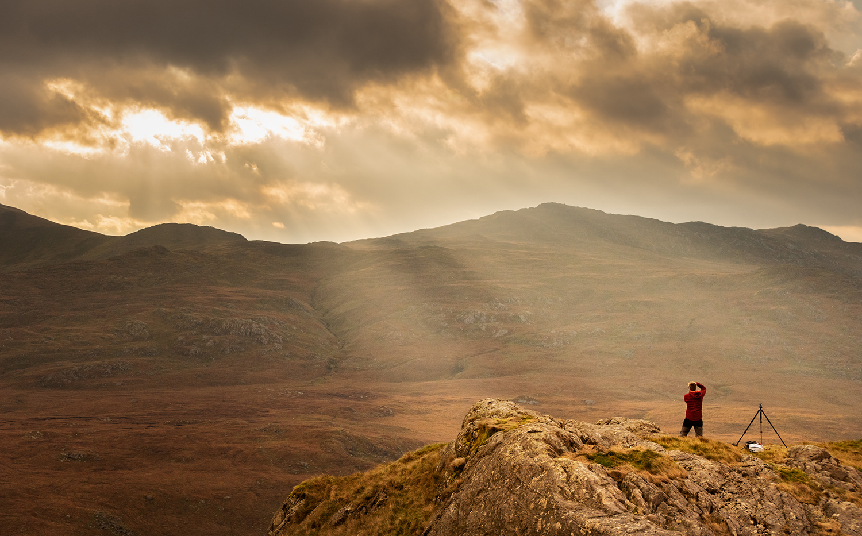 Looking towards Carnedd y Cribau and Moel Siabod from Moel Berfedd. Image taken by  Stu McGlennon
