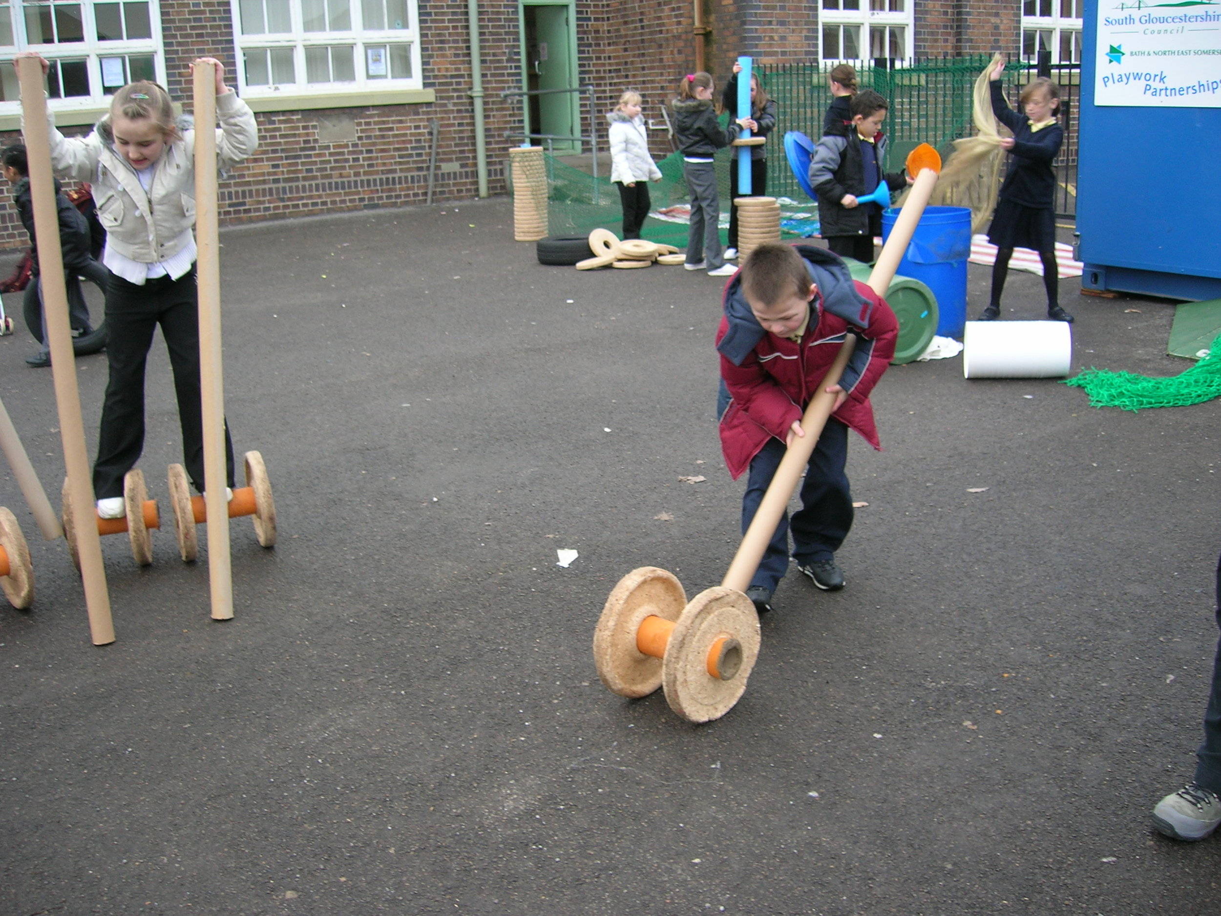 Adds risk and challenge into the play and helps children develop skills in managing risks for themselves.
