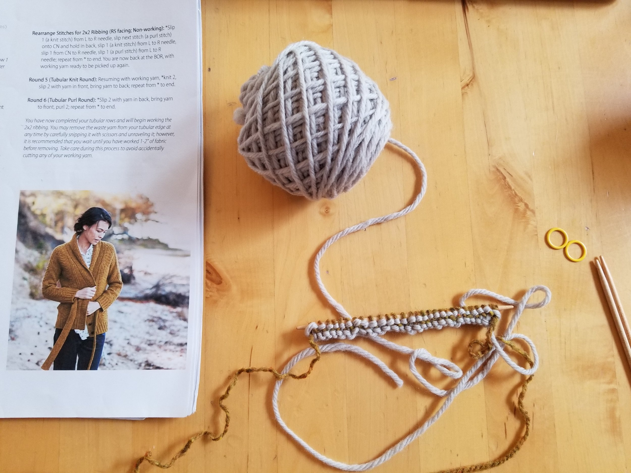 Taking a little me-knitting time...with Jared Flood's Channel Cardigan. It'll never go out of style.