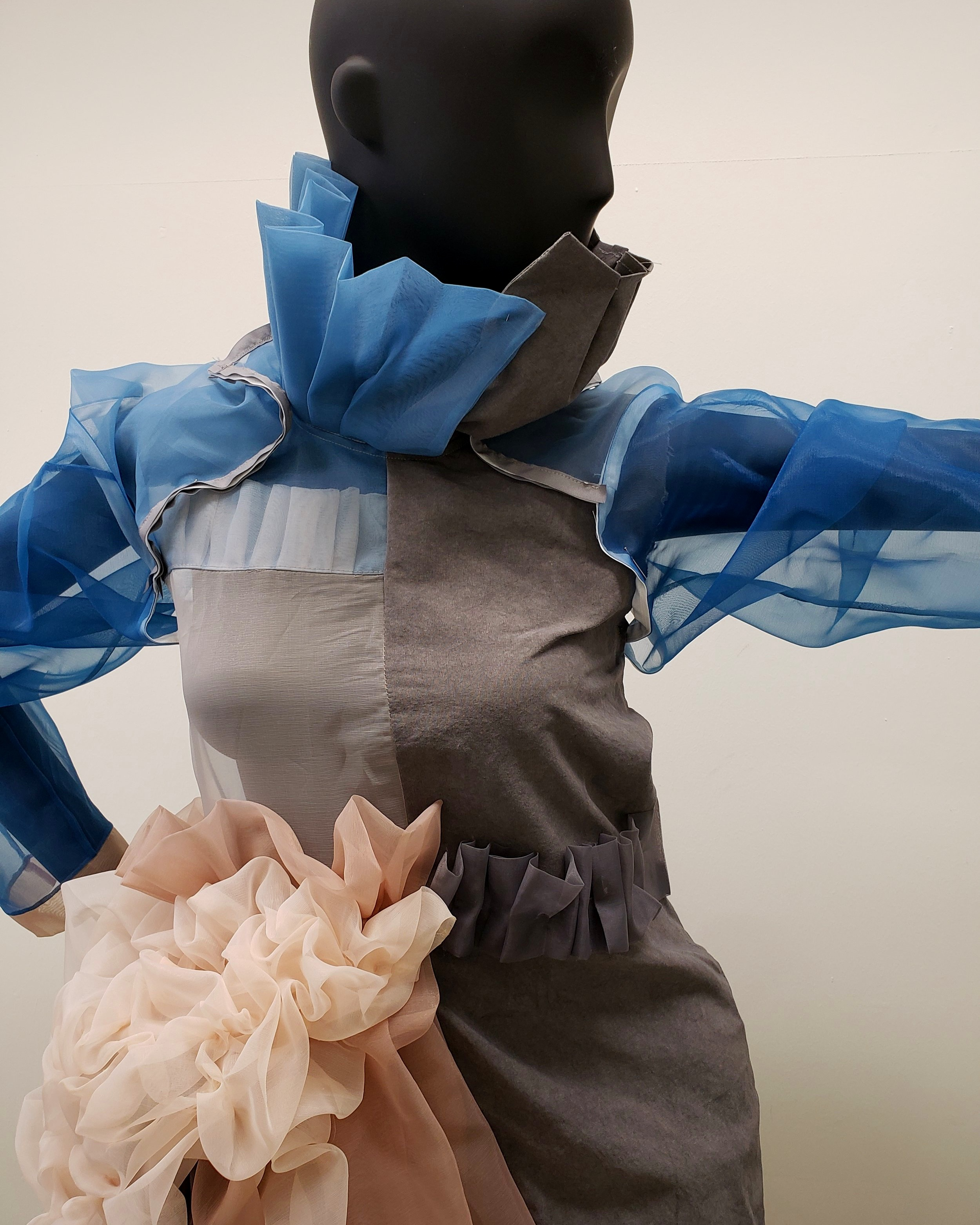 A WIP at SUNY-Korea, all dyed with natural dyes.