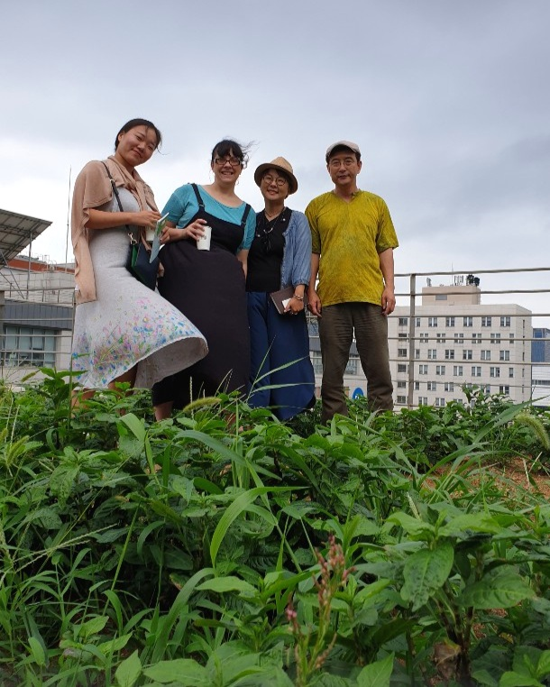 Me and my new natural dye friends on the rooftop of SUNY-Korea in the Sky Garden!!!