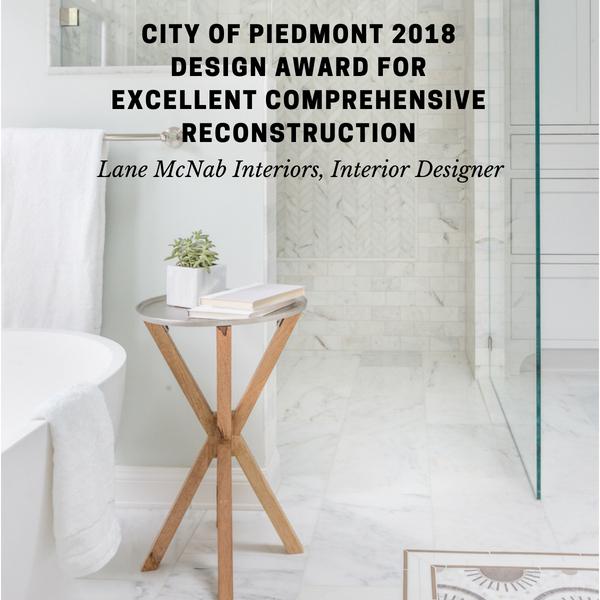 City of Piedmont Design Award