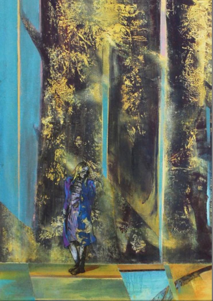 Franck Blady, Es rauschen leis die Wälder, so sternklar war die Nacht, 155 x 120 cm, 2013
