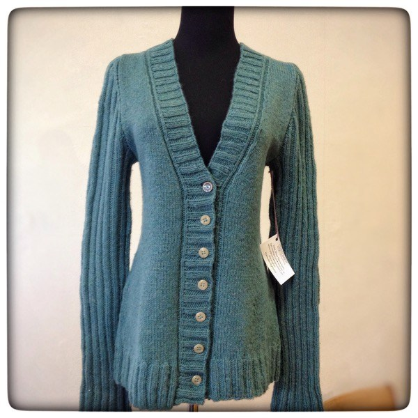 Stonington, from the CustomFit Trunk Show, knit by the Yarn Underground in Harrisville Highland