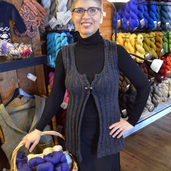 CustomFit Open Front Tunic Vest, designed by Yarn Folk in HiKoo Kenzington