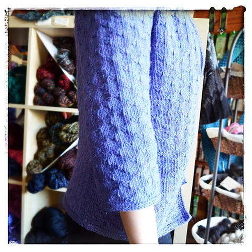 Cushman in Peace Fleece DK–side view