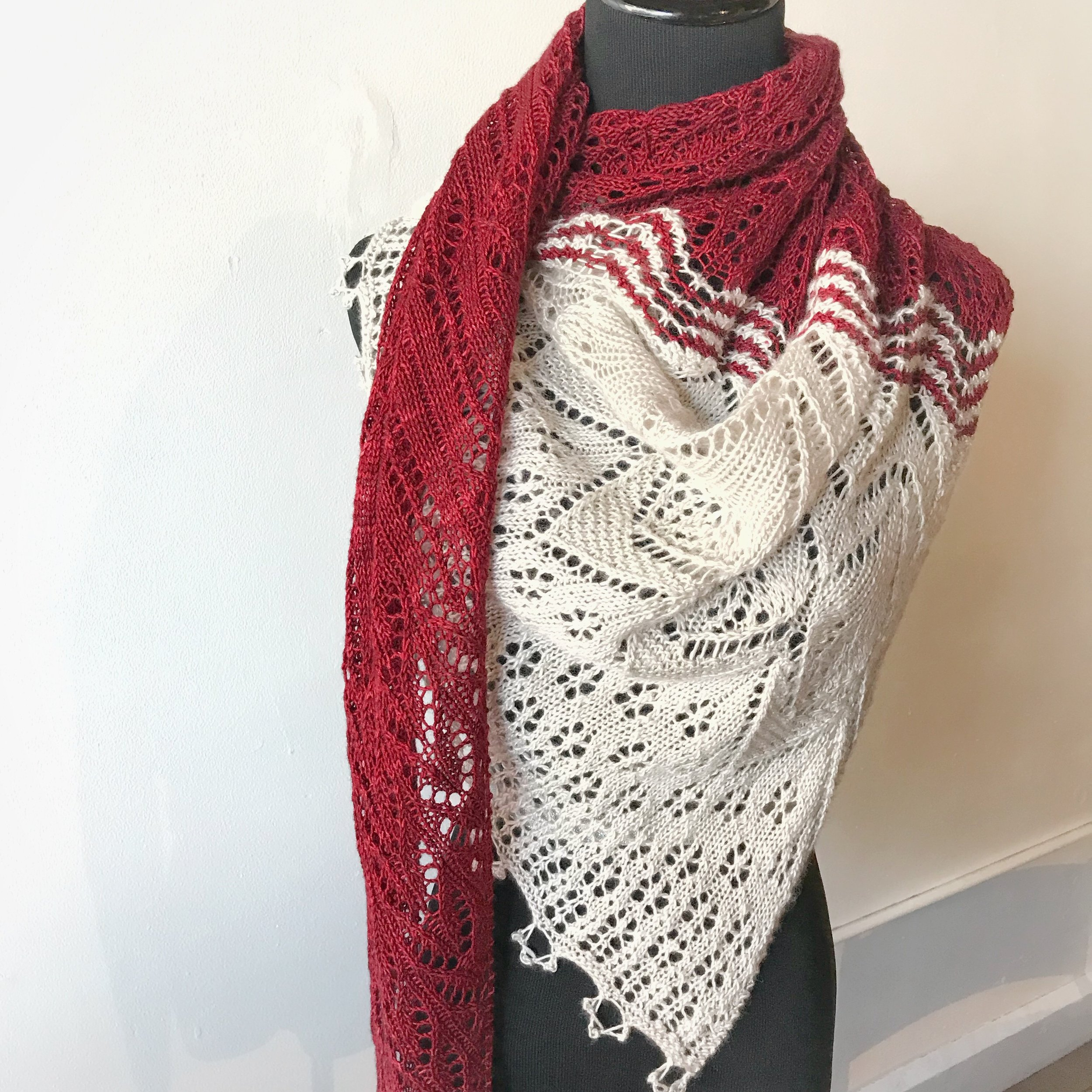 Through the Loops MKAL 2018 - Here is the Through the Loops Mystery Shawl 2018.This was such a pleasant pattern to knit--each new section provided new variation, and the different lace patterns flowed beautifully from one to the next. There are additional detail photos on my project page.
