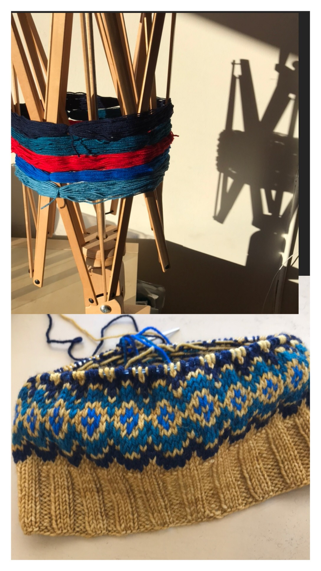 CURRENT CLASSES & EVENTS - Wonderful WallabyNovember 7, 14, 21, 28, 5:00pm-7:00pm | $40 + materials | Ann MinerThe Wonderful Wallaby is the knitted version of a classic hooded sweatshirt. It is knit in the round from the bottom up until the hood, which is knit back and forth. The stitches for the pouch pocket are picked up from the body, and knit back and forth. Sleeve shaping is done via raglan decreases. Sizing is child's size 2-12.Prerequisites: You should be comfortable casting on, knitting, purling, and casting off, and should be familiar with a method for knitting small tubes—double points, two circulars, or magic loop.Anthology KALNovember 2, 9, 16, 23, 5:00pm-7:00pm | Materials only [IN PROGRESS, but feel free to join us any time!]We'll be using the free Anthology pattern from Tin Can Knits to design unique colorwork hats or cowls. Just like the Strange Brew sweater recipe, Anthology offers a wide variety of sizes, and three gauge options. Held in the knitalong format, there will be no charge to participate beyond purchase of materials.Above: I'm thinking of doing a fingering weight hat using the Knitted Wit Smarties with a main color. It's great fun to play around with a bunch of different combinations!Prerequisites: You should be comfortable knitting, purling, casting on, and binding off. If you don't have previous experience with two-color knitting, plan for adventure—help will be available, but this knitalong is not a formal class.
