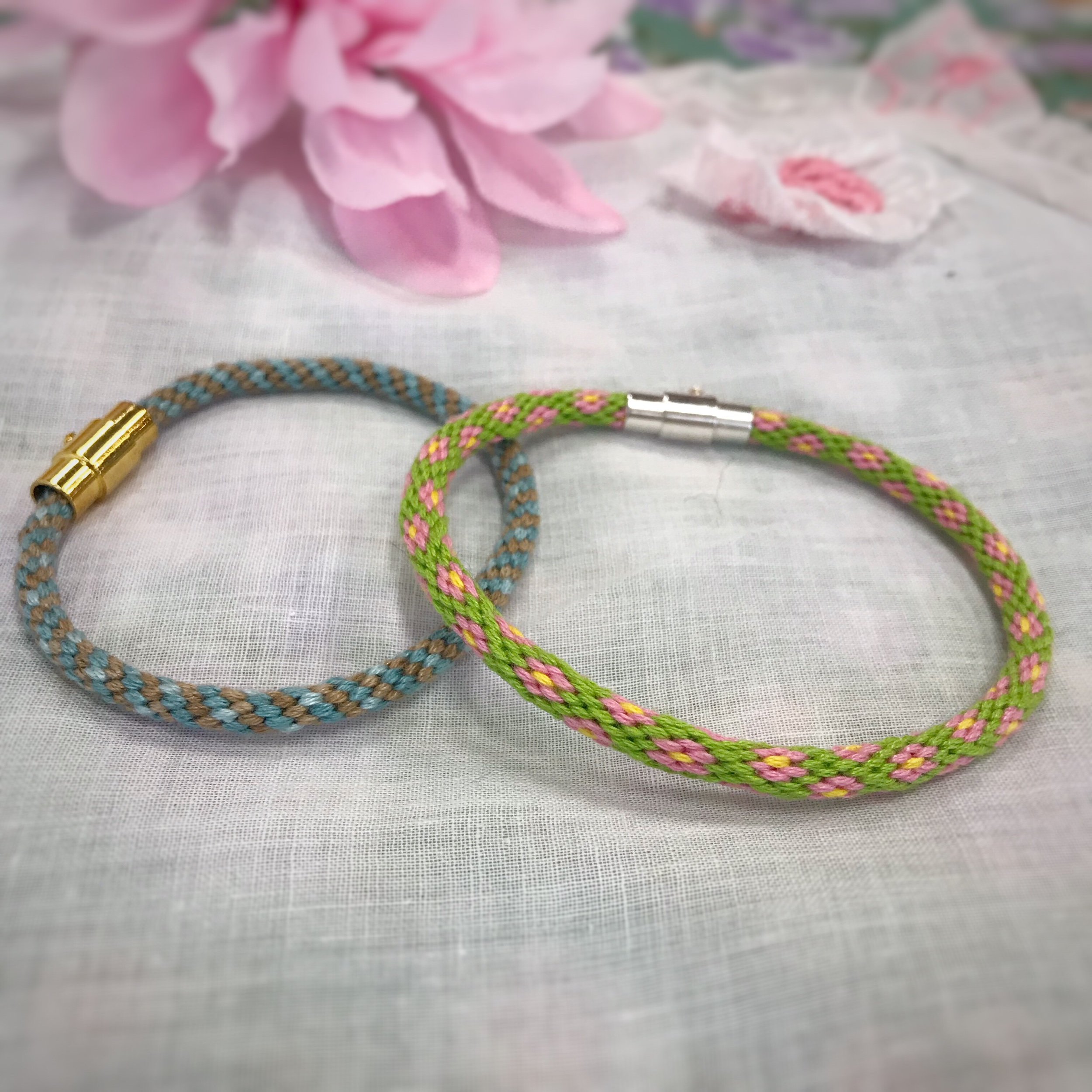 CURRENT CLASSES & EVENTS - Kumihimo Bracelet [two spaces available]August 10, 10:00am-2:30pm | Instructor: Sandy Buzzelli | $40 + materialsAs knitters and crocheters, we all have leftover bits of yarn in our stashes. Kumihimo, a Japanese form of braiding, can be a perfect way to use up some of those leftovers. In this class, you'll have the choice of making an 8-strand spiral bracelet or a 20-strand flower bracelet.A kumihimo bracelet kit is available for purchase at Yarn Folk -- it contains all the supplies needed to make the kumihimo bracelet class project.Berroco Fall Yarn TastingAugust 14, 5:00-7:00pm | $12Berroco Fall Yarn TastingAugust 23, 5:00-7:00pm | $12Enjoy light refreshments, knittable samples of six Berroco yarns, and preview pattern collections for Fall 2019! Bonus, if you are participating in the Slow Yarn Crawl, collect an extra stamp for attending a yarn tasting!Project CircleAugust 30, 5:00-7:00pm | no charge.Join us to work on your longer term projects!