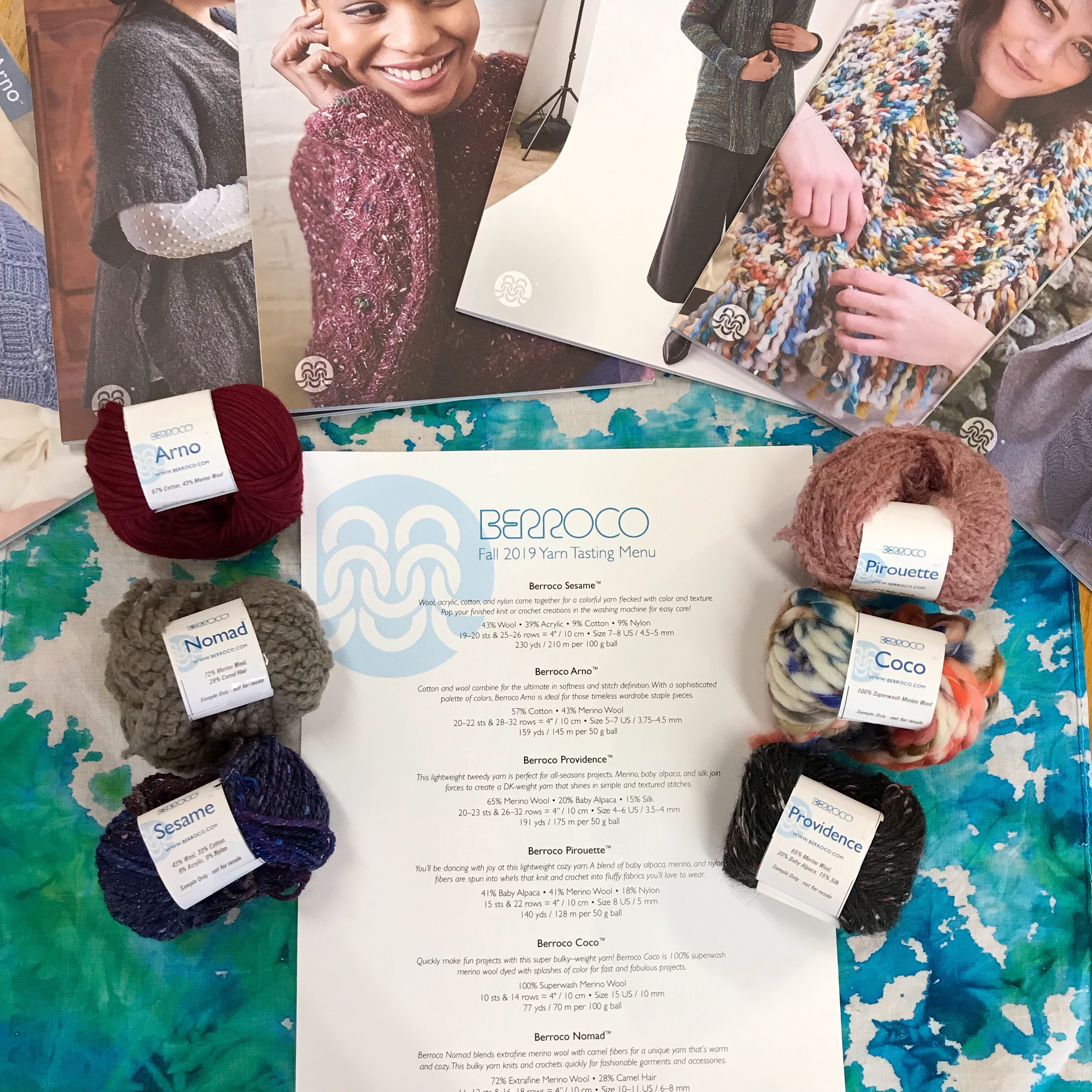 CURRENT CLASSES & EVENTS - Berroco Fall Yarn TastingAugust 14, 5:00-7:00pm | $12Berroco Fall Yarn TastingAugust 23, 5:00-7:00pm | $12Enjoy light refreshments, knittable samples of six Berroco yarns, and preview pattern collections for Fall 2019! Bonus, if you are participating in the Slow Yarn Crawl, collect an extra stamp for attending a yarn tasting!Project CircleAugust 30, 5:00-7:00pm | no charge.Join us to work on your longer term projects!