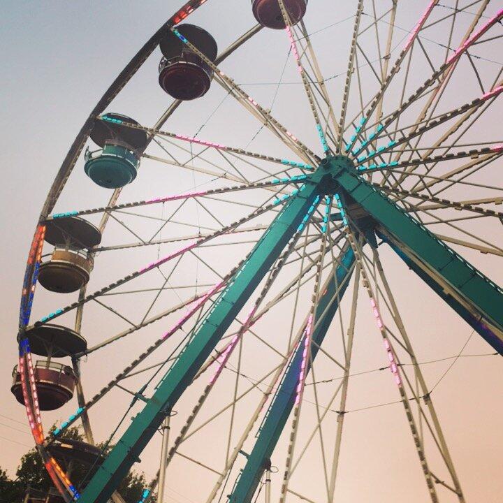 2017 photo of ferris wheel at the Kittitas County Fair