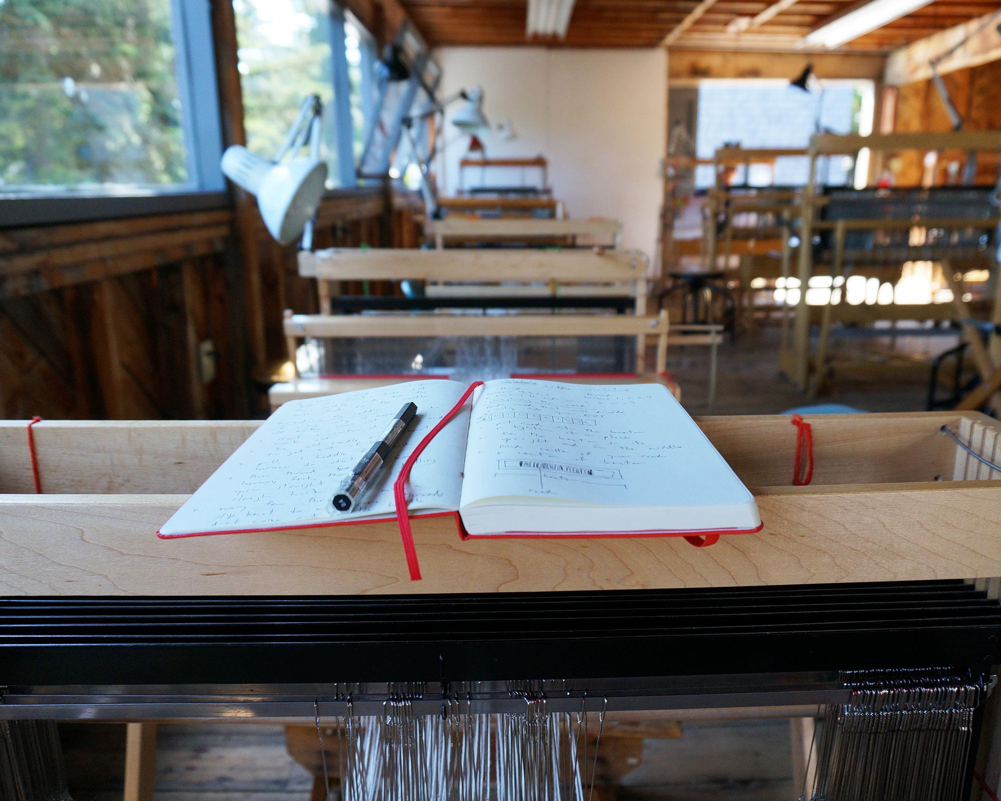 My loom in the weaving studio