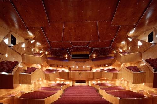 Palacio Euskalduna, Bilbao - Le Palais Euskalduna, ou Palais des Congrès et de la Musique, fut le deuxième immeuble construit dans la zone urbaine d'Abandoibarra après le Musée Guggenheim Bilbao. Inauguré en 1999, il fut conçu en acier corten par les architectes Federico Soriano et Dolores Palacios comme symbole du dernier navire construit dans les anciens chantiers navals Euskalduna, qui occupaient cet espace il y a des dizaines d'années. Aujourd'hui il accueille l'une des programmations les plus pointues de concerts, opéras et pièces de théâtre d'Espagne.
