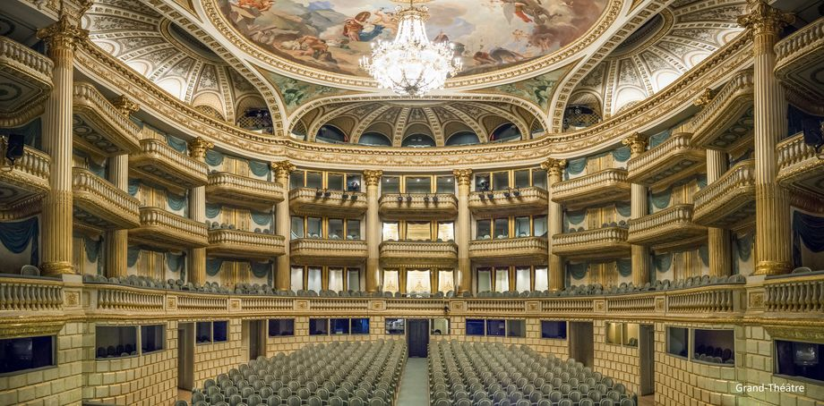 Opéra National de Bordeaux, France - The Grand Théâtre de Bordeaux, commissioned by Marshal de Richelieu, governor of Guyenne, and built by the architect Victor Louis, was inaugurated on April 7, 1780 with the representation of Athalie Jean Racine.