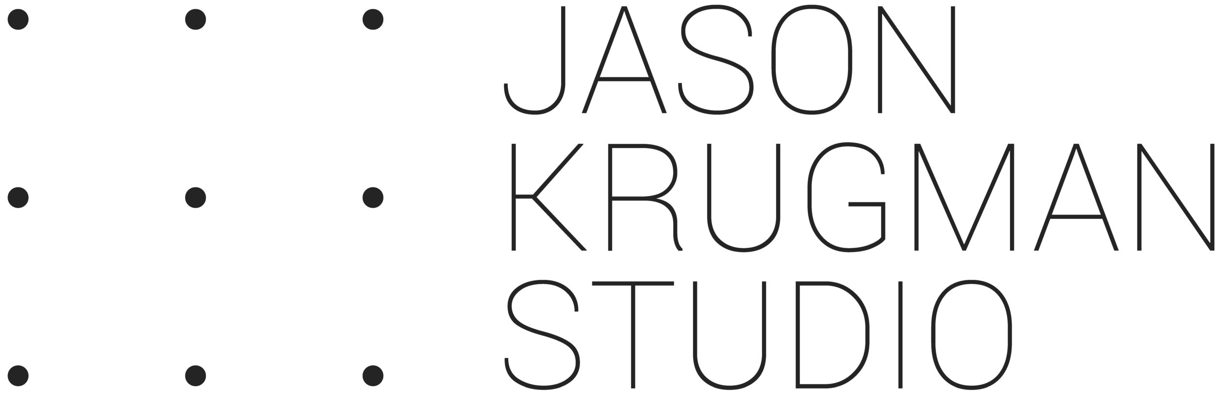Jason Krugman Studio - Jason Krugman attended Tufts University and studied Economics and Fine Arts. After graduating, Krugman struggled to imagine a career as a fine artist and instead focused on economics and later finance. He worked at Goldman Sachs and Merrill Lynch processing structured credit trades prior to the financial collapse. In early 2007, with no inkling of the impending calamity, Krugman returned to school to study technology and art. Inspired by the burgeoning use of electricity and code to create interactive art, he enrolled at the Interactive Telecommunications Program (ITP) at NYU. Krugman learned about microcontrollers, soldering, digital fabrication and new materials. His thesis at ITP, a wind sensitive LED array, was blogged about by Kanye West which in turn got him his first commercial commission, making a larger, more portable version to show at several large music festivals. Krugman soon after began receiving inquiries to make permanent LED installations for buildings and people's homes. Today, Krugman's practice is still based around the design and execution of new types of LED artworks. He has developed a hand-soldered LED mesh, several cable systems, and a variety of custom printed circuit boards for LED artworks. He specializes in arranging electricity and lights in 3-dimensional space. His sculptures often use their physical structure to conduct electricity to the light sources. This eliminates most of the insulated wiring and connectors allowing thousands of lights to sit softly among minimal wire forms.