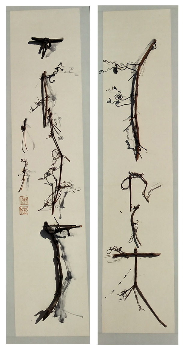 1.Taste of Italy - a pair of Chinese cursive calligraphy scrolls.jpg
