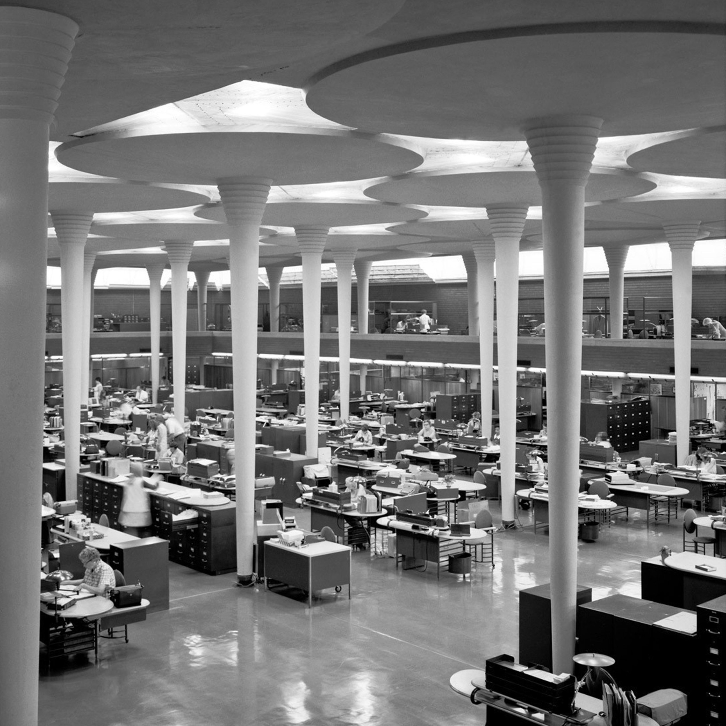 Frank Lloyd Wright's Johnson Wax complex, which opened in 1939, recognised, as we do, the value of good lighting. -