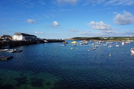 On the Quay sits in the most beautiful harbour on St Mary's