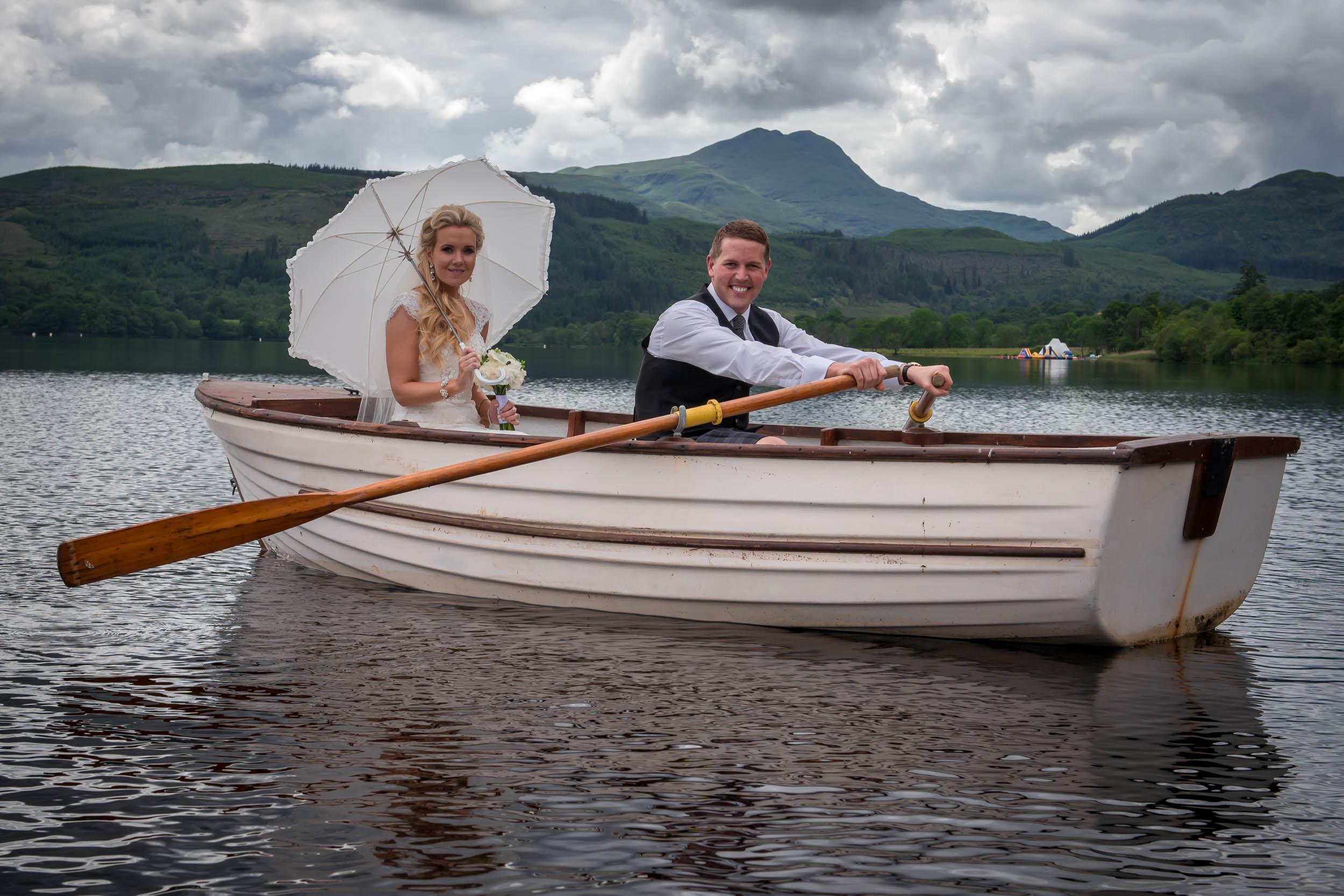 Rowing on Loch Ard!