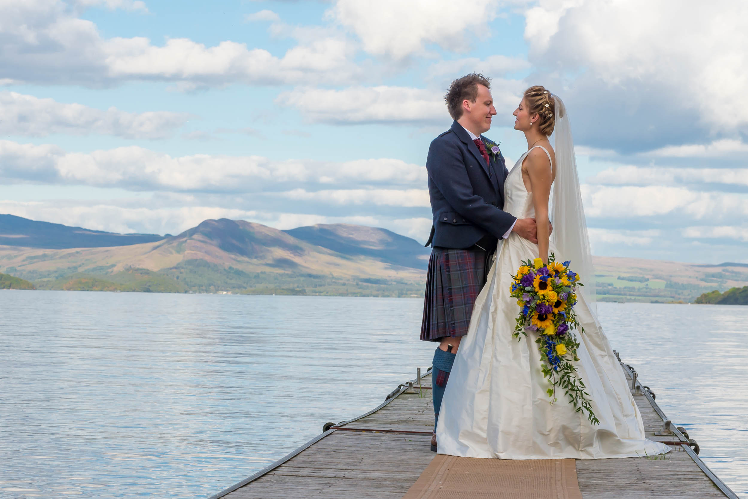 Wedding Photography at The Cruin, Loch Lomond
