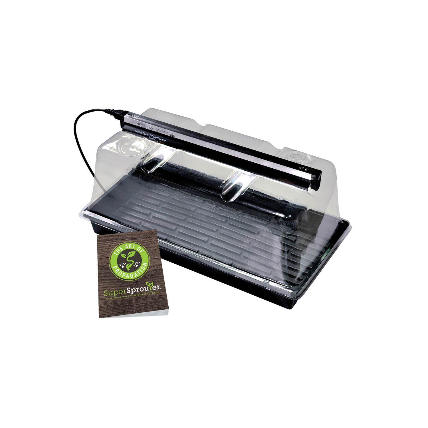 Super Sprouter Deluxe Propagation Kit with 7 in Dome and T5 Light ...