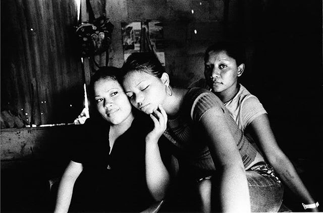 These girlfriend are living together. They share a duble bed. The night before i came to visit them,the girl in the middle was badly beaten up by her boyfriend. #humanrights#savethechildren