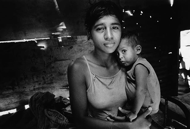The young mother and her child inside there home#humanrights #childrenrights