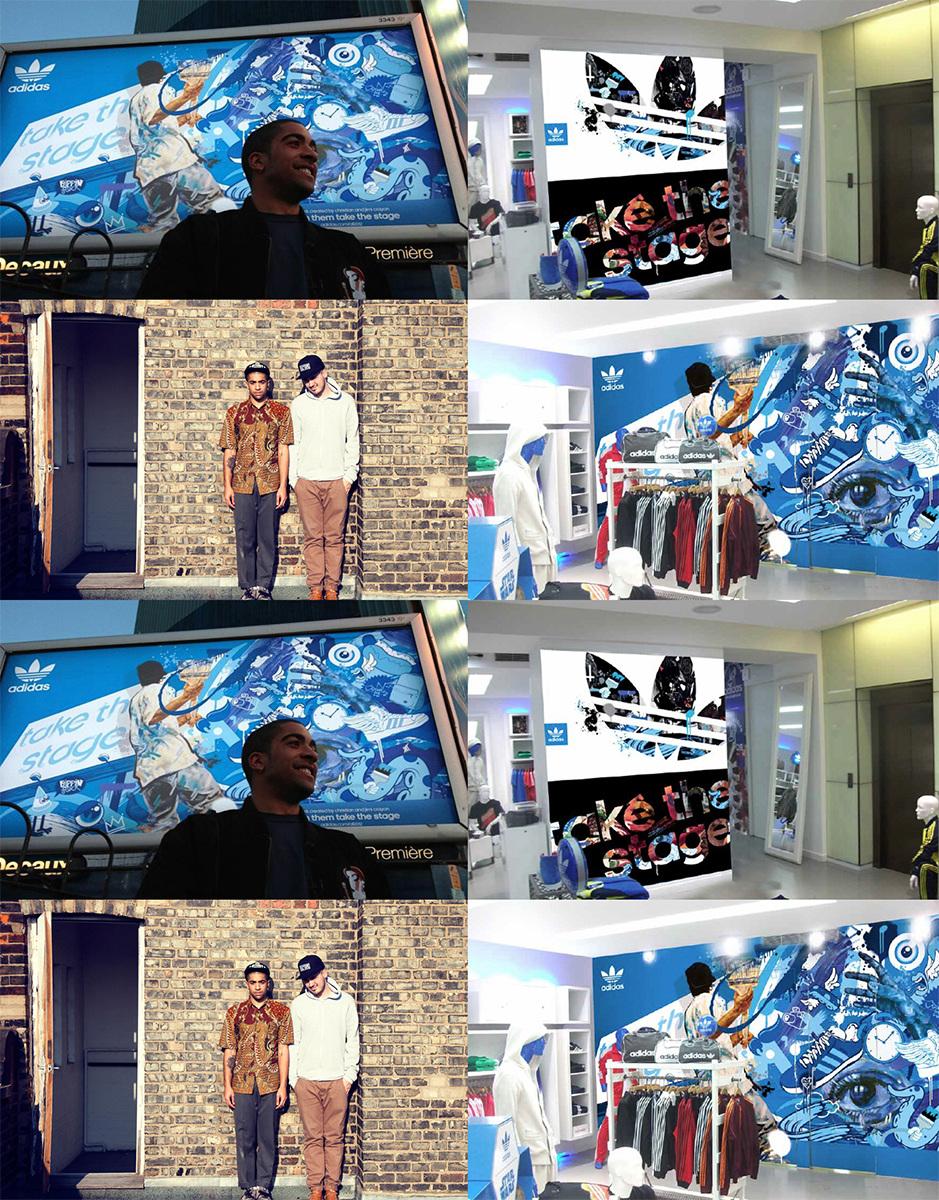 adidas billboard w Christian Newell BTS