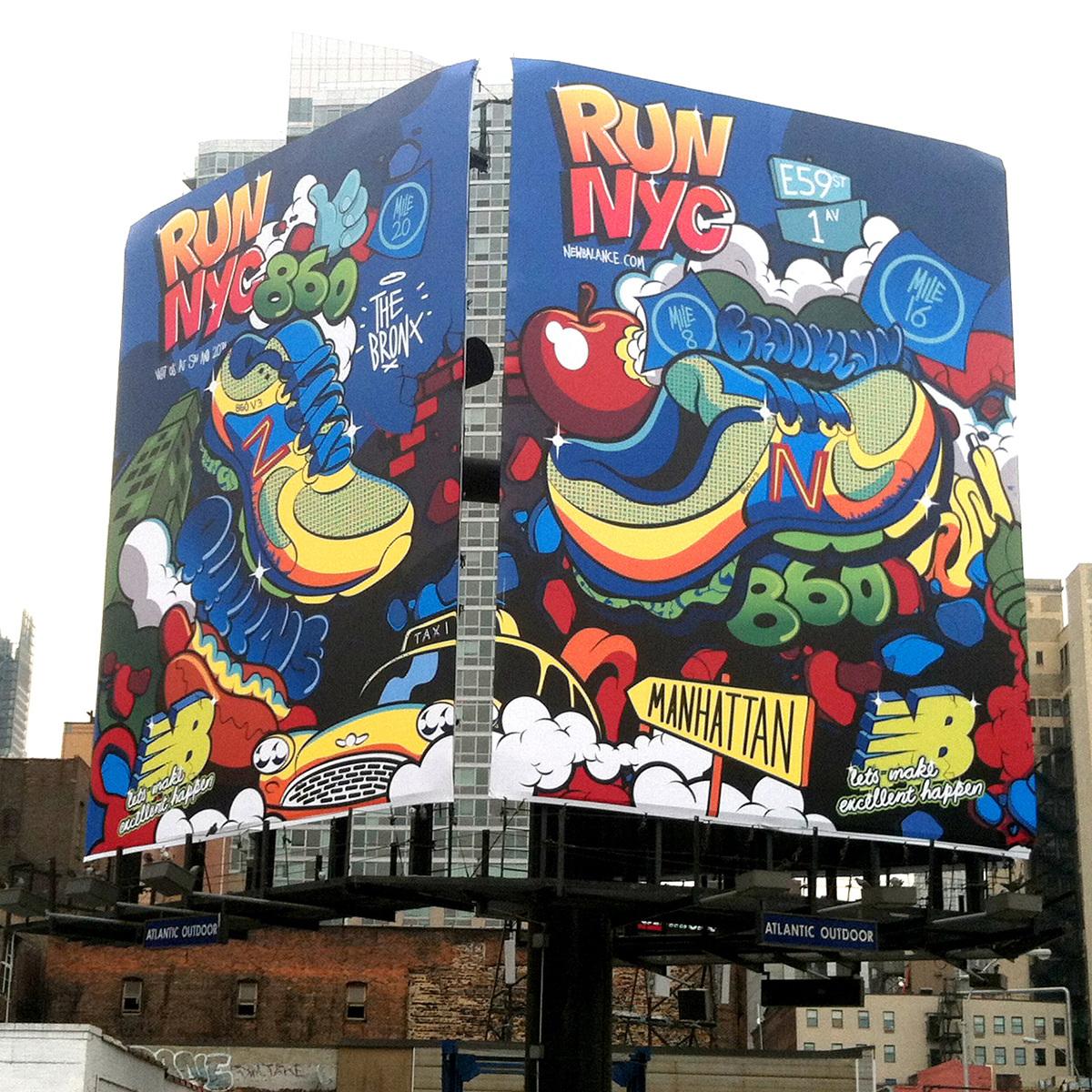 New Balance mural
