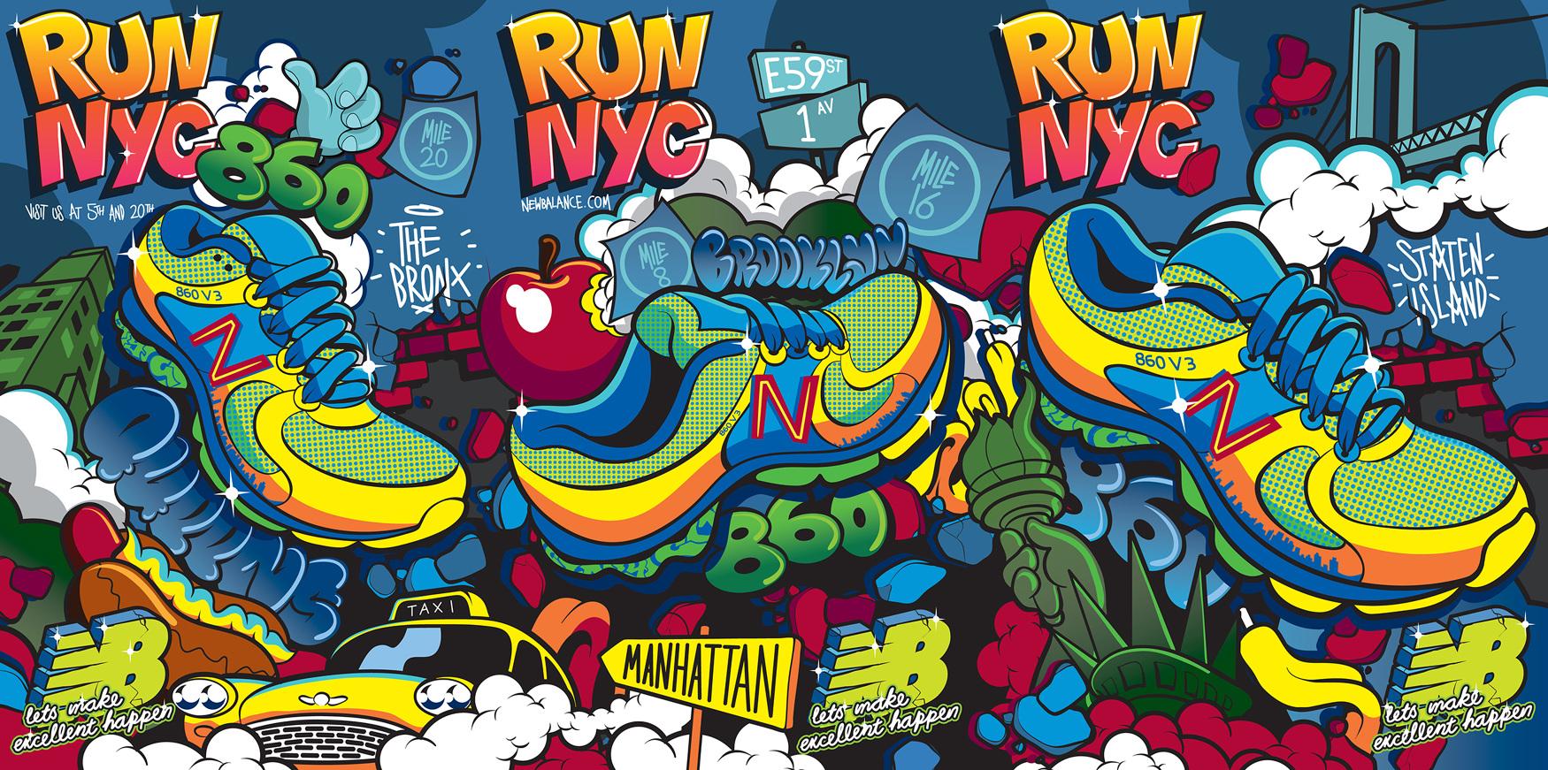 New Balance mural design