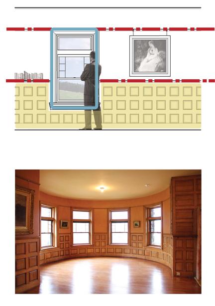 Top: Diagram illustrating datum; Stonehurst, Waltham MA  |  Bottom: Image of 'datum' at Stonehurst in Waltham, MA.