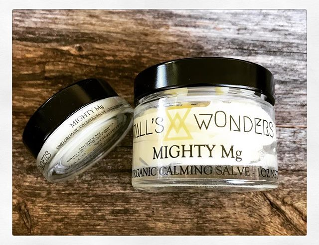 💪🏼NEW STRONGER FORMULA MIGHTY Mg to compliment our stronger Miracle Max💪🏼 . . MIGHTY Mg available at WALLSWONDERS.COM in two sizes- 50mg jar and 250mg jar! . . This creamy blend of hemp CBD, magnesium and roman chamomile is the perfect answer for balancing sleep, calming anxiety and relaxing muscles. . . Grab our remaining stock of original strength MIGHTY Mg NOW for 20% OFF at WALLSWONDERS.COM while supplies last. (Original strength was 100mg/ounce. New formula is 250mg/ounce.) . . #mightymg #wallswonders #salve #hempcbd #cbd #magnesium #chamomile #romanchamomile #cocoabutter #healing #organic #shopsmall #handmadeintheusa #handmadeinsandiego #handmadeincalifornia #shoplocalsd #keepmewherethelightis #sleep #anxiety #musclespasm #musclerelaxing