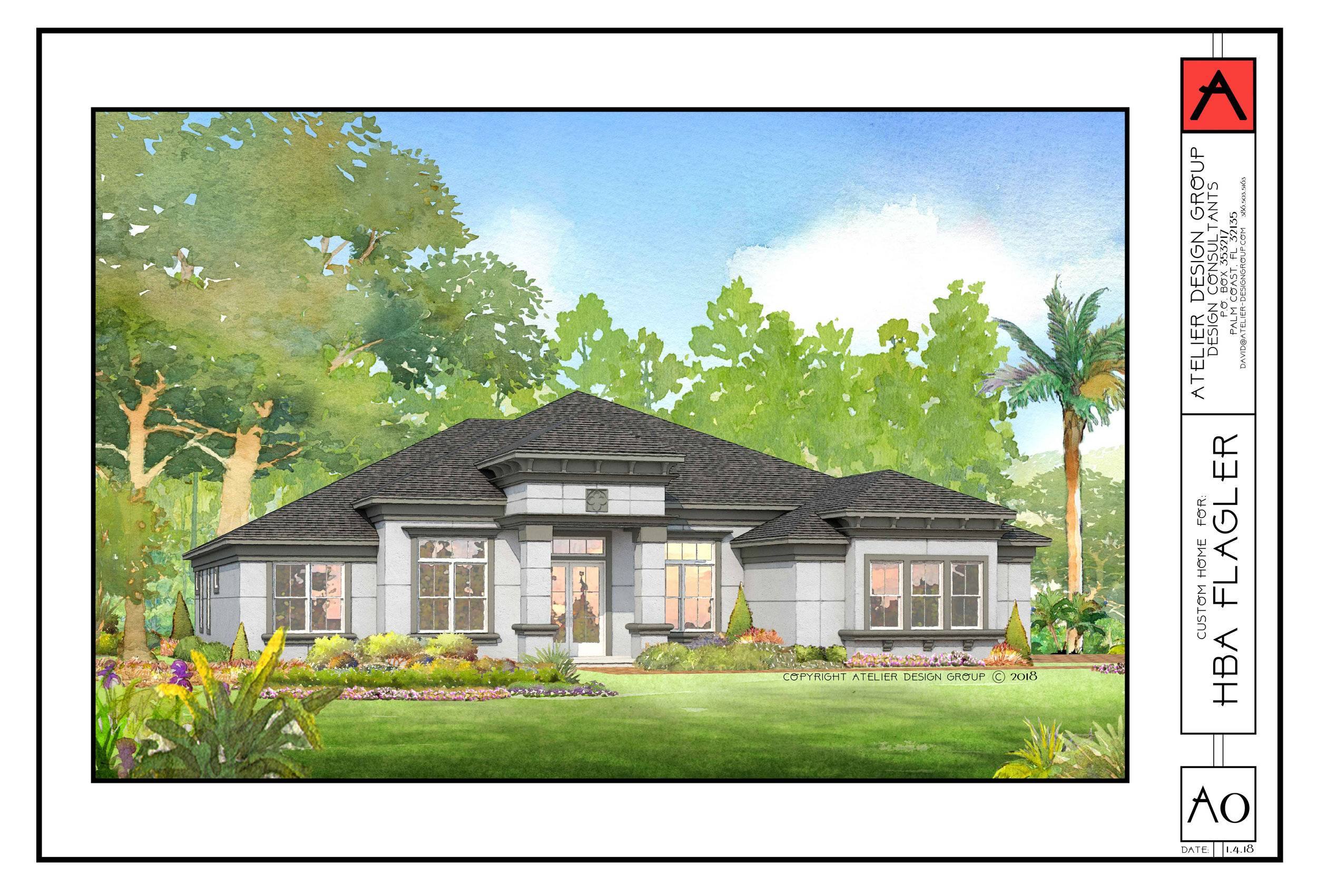 Rendering: The Paradise Home for the Flagler Home Builders Association.  http://www.flaglerhba.com/paradise
