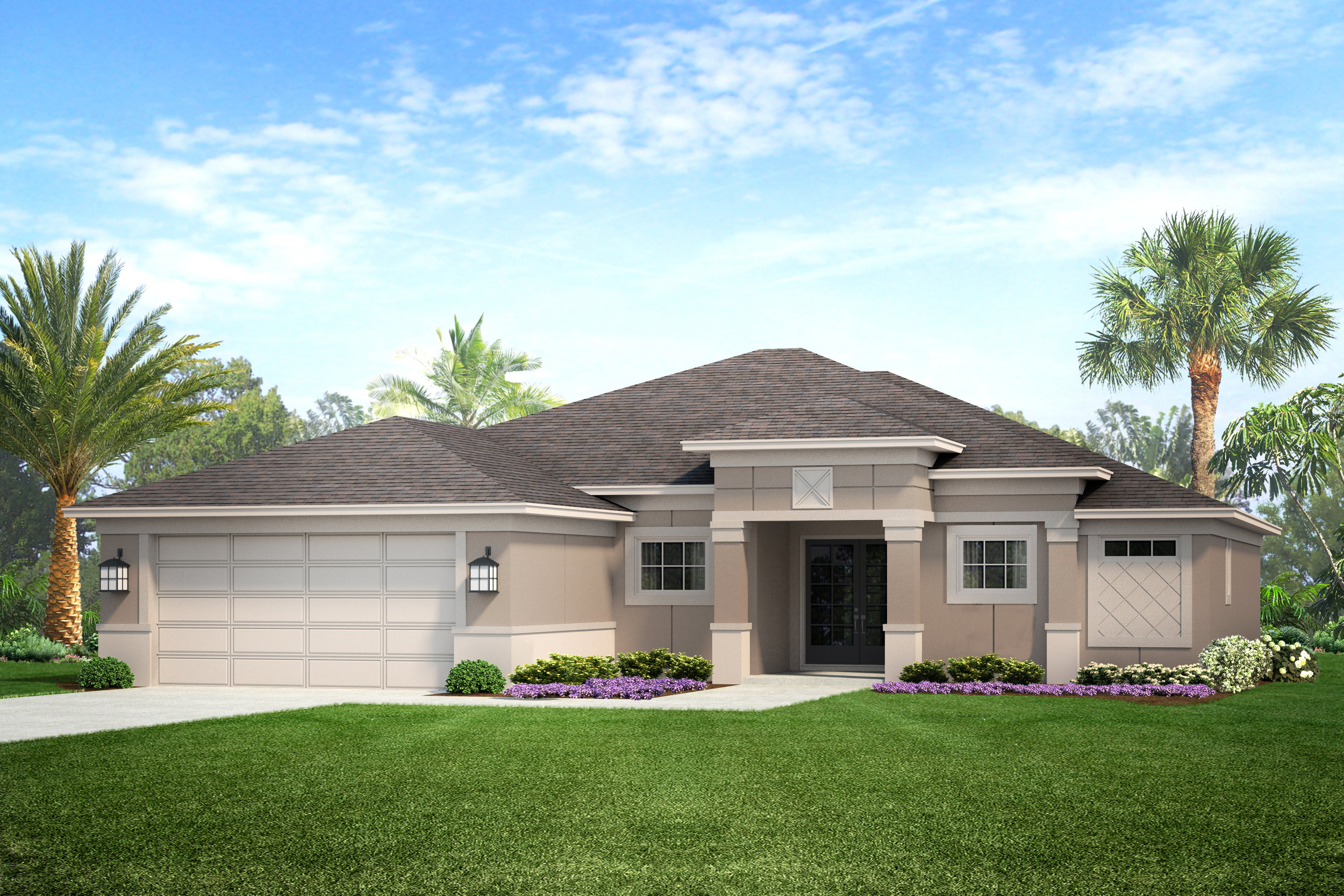 This model home was designed for Waterside Homes.