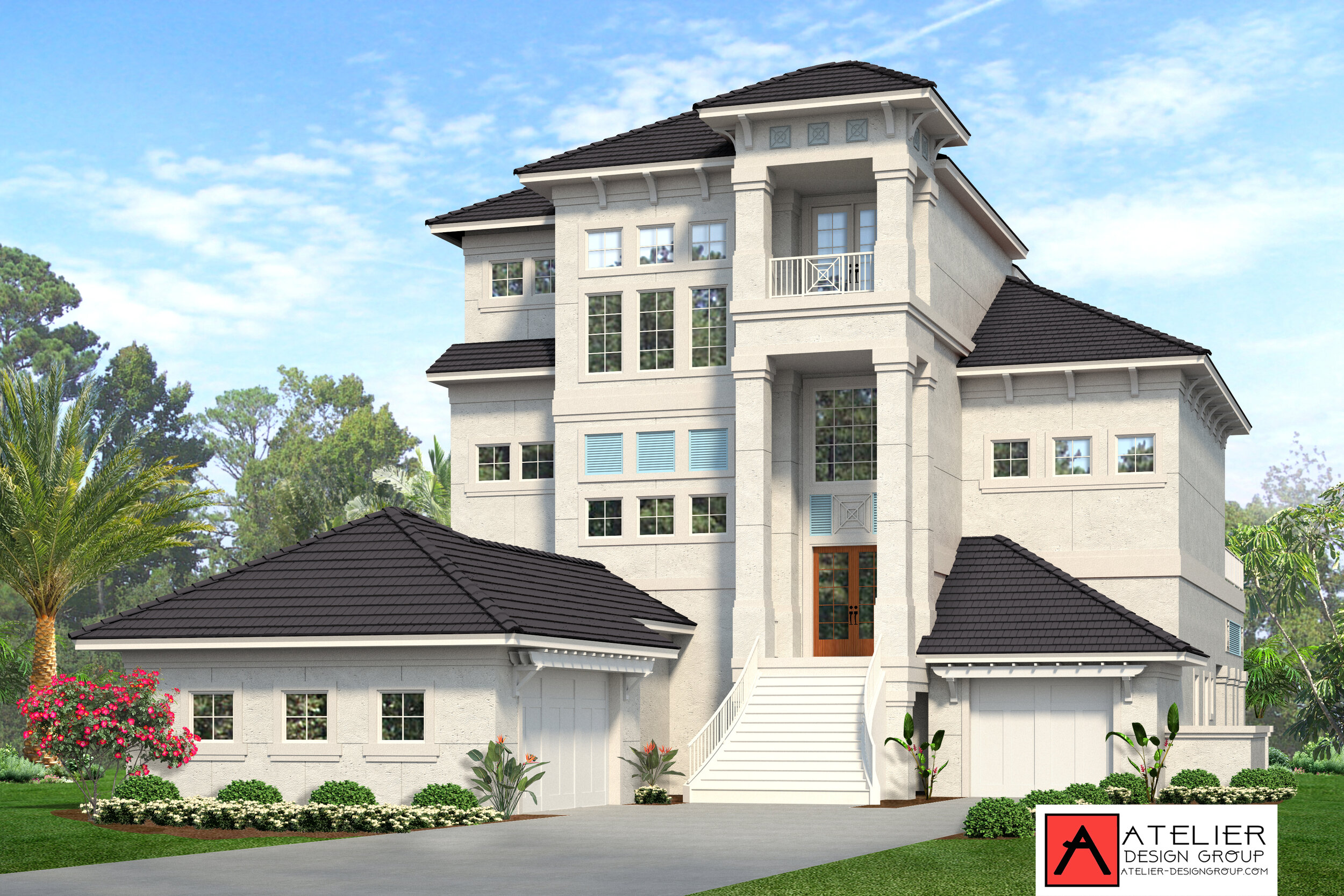 Atelier Design Group are the designers for this Classy Coastal Residence coming to the Ocean Hammock area of Palm Coast, FL. We have mixed our beach style with the classical timeless design. Our goal was to create a design to last a life time. .In the permit process now. Construction photos to follow soon.