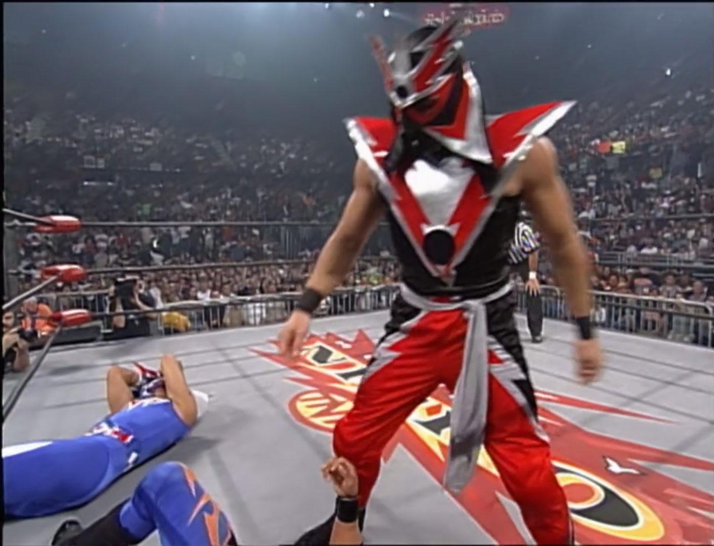 Rey Mysterio Jr vs Blitzkrieg vs Psychosis vs Juventud Guerrera Fatal 4-Way Match, WCW Cruiserweight Championship WCW Monday NITRO, April 19th 1999
