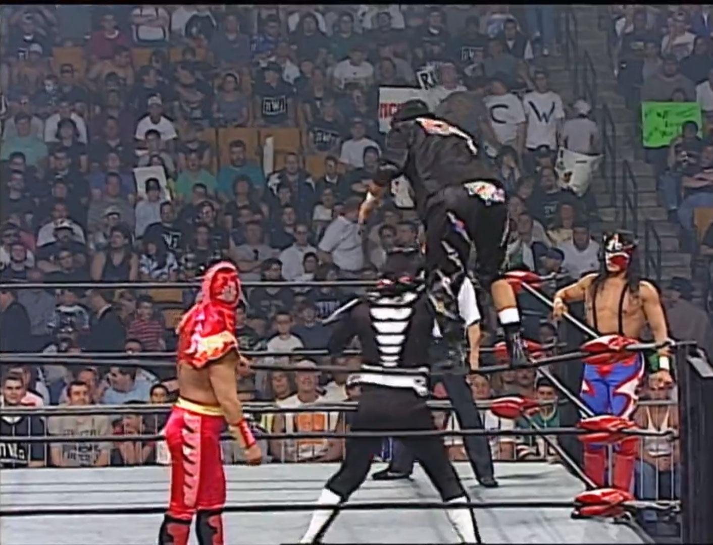 Juventud Guerrera, Super Calo and Último Dragón vs. La Parka, Psychosis and Silver King,  WCW Monday NITRO, June 9th 1997
