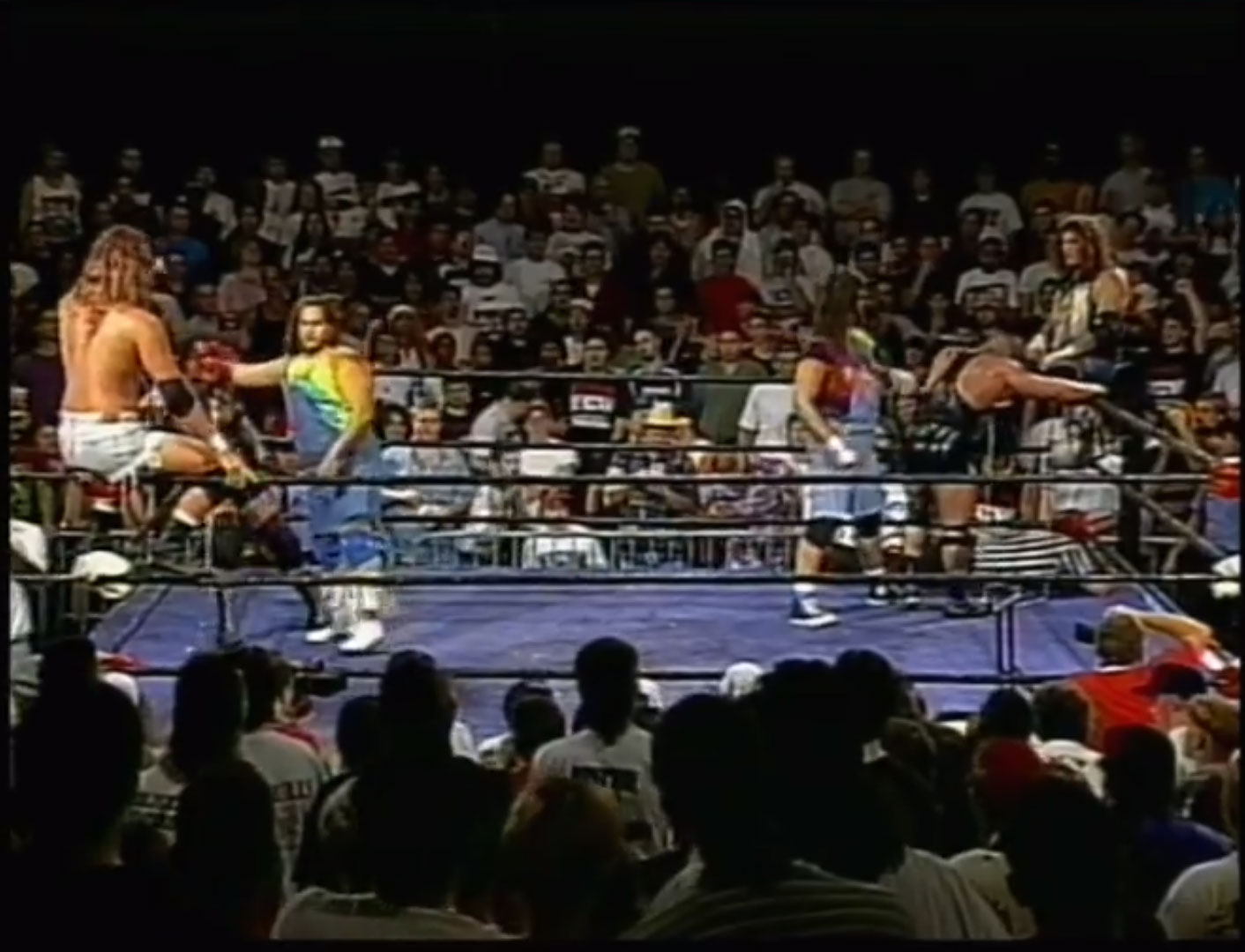 Raven & Stevie Richards vs The Pitbulls 2/3 Falls Match Double Dog Collar Match ECW Hardcore TV, September 19th 1995