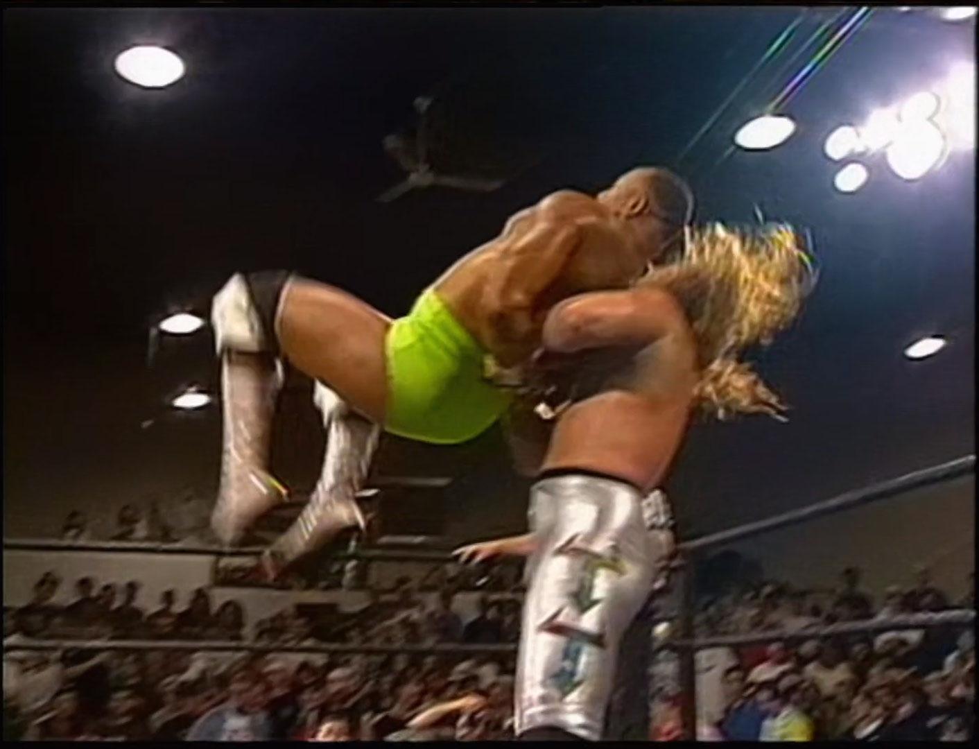 Chris Jericho vs Too Cold Scorpio vs Pitbull 2 vs Shane Douglas ECW Television Championship ECW Hardcore TV July 23rd 1996