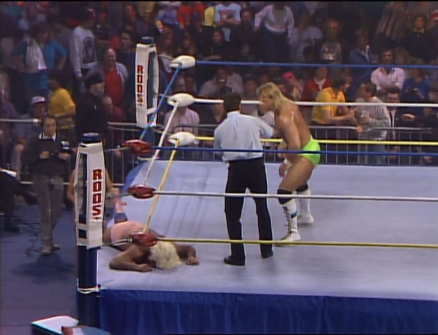 Ric Flair vs Lex Luger NWA World Heavyweight Championship WreslteWar '90 Feb 25th 1990