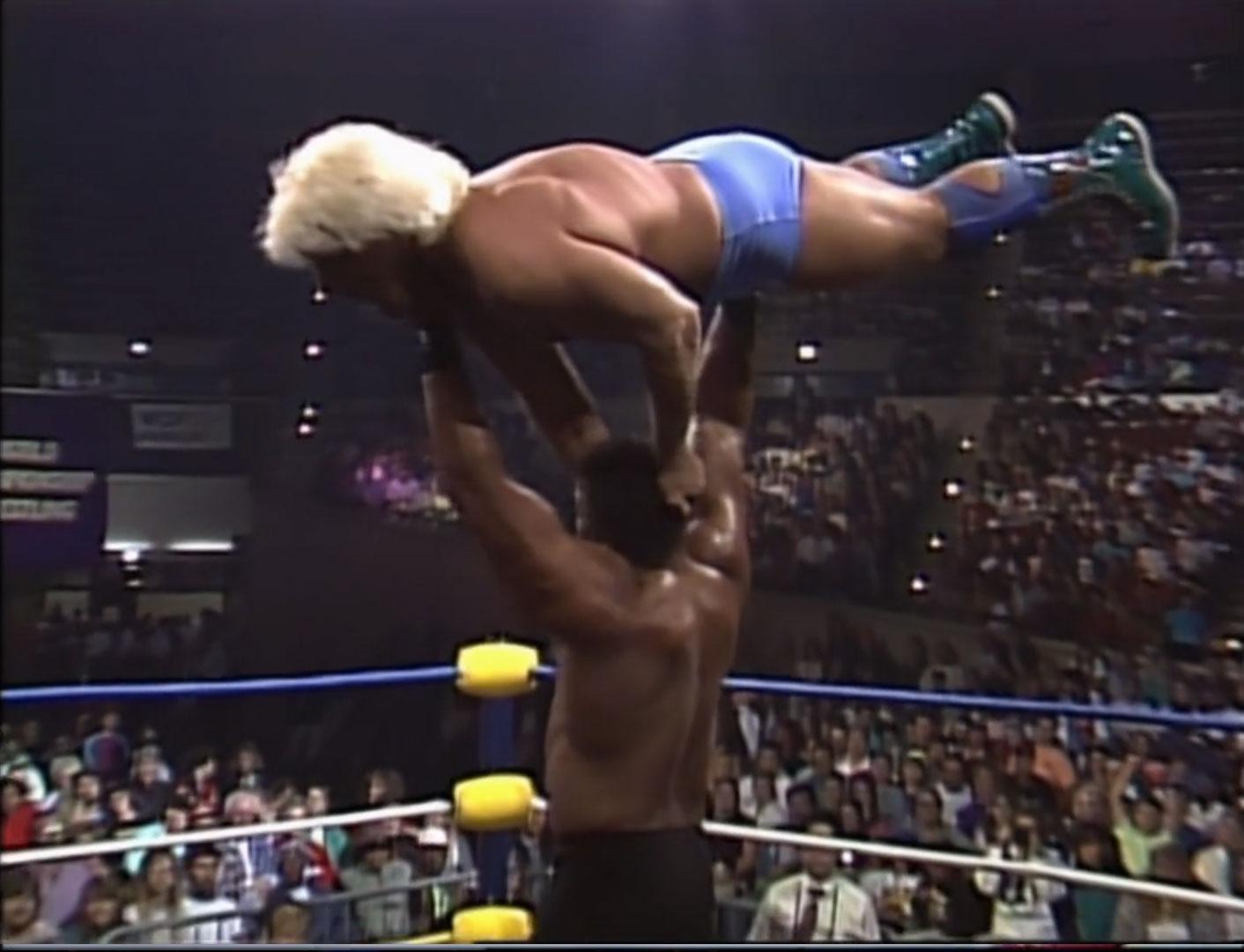 Ric Flair vs. Butch Reed NWA Clash Of The Champions XIII: Thanksgiving Thunder Nov 20th 1990