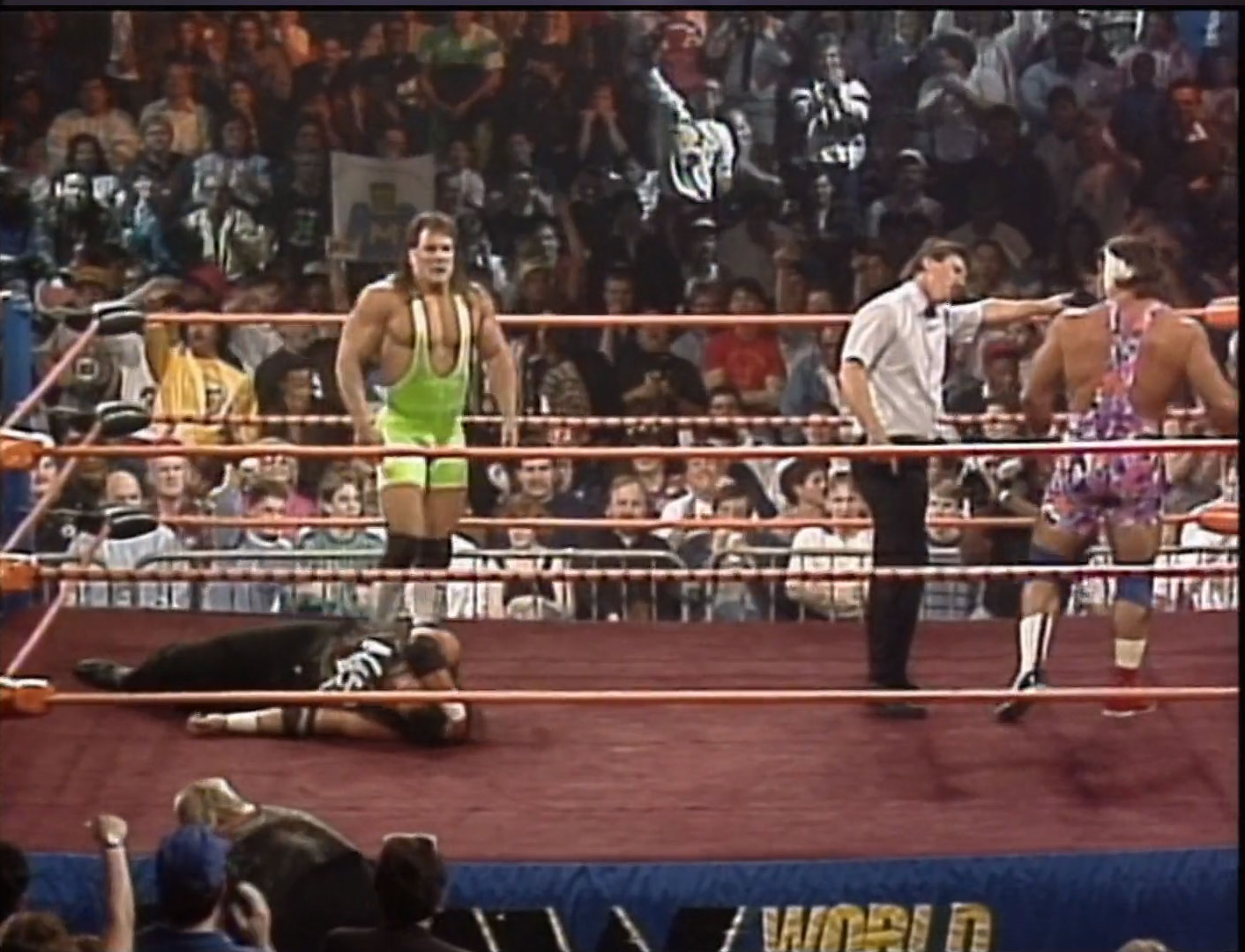 The Steiner Brothers vs. The Nasty Boys NWA Halloween Havoc '90 Oct 27th 1990