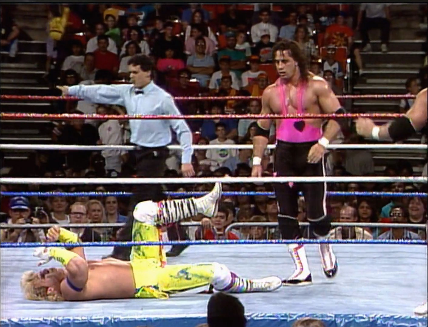 The Hart Foundation vs. The Rockers Saturday Night's Main Event April 28th 1990