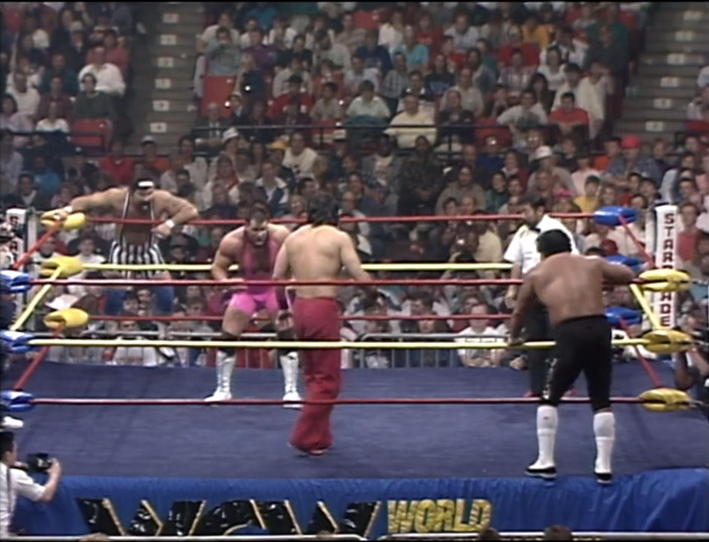 Steiner Brothers vs. The Great Muta & Mr. Saito NWA Starrcade '90 Dec 16th 1990