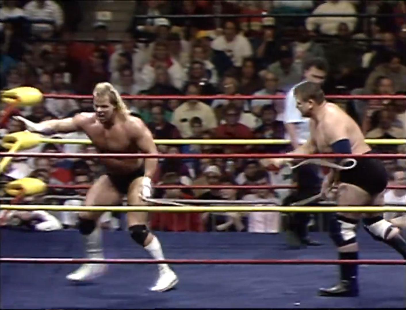 Lex Luger vs. Stan Hansen  Texas Bullrope Match NWA Starrcade '90 Dec 16th 1990